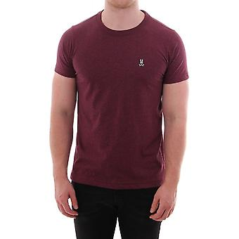 Psycho Bunny Classic Crew Neck Burgundy Salt Pepper