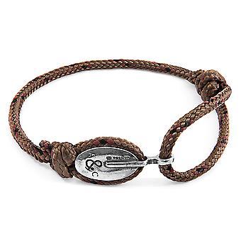 Anchor & Crew Brown London Silver and Rope Bracelet