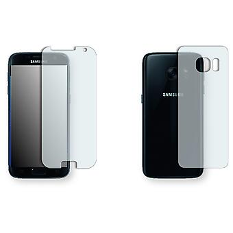 Samsung Galaxy S7 display protector - Golebo crystal-clear protector (3 x front / 3 rear) (deliberately smaller than the display, as this is arched)