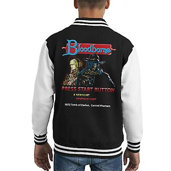 Bloodborne 8bit Kid Varsity Jacket
