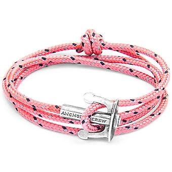 Anchor and Crew Union Silver and Rope Bracelet - Pink