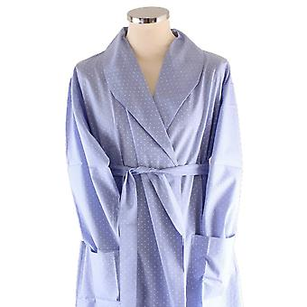 Bown of London Soho Spot Dressing Gown - Light Blue