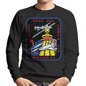 NASA STS 118 Space Shuttle Endeavour Mission Patch Men's Sweatshirt