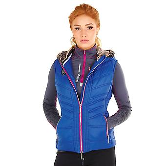 Just Togs Womens Bexley Gilet Sleeveless Jacket Windproof Breathable Hooded Zip