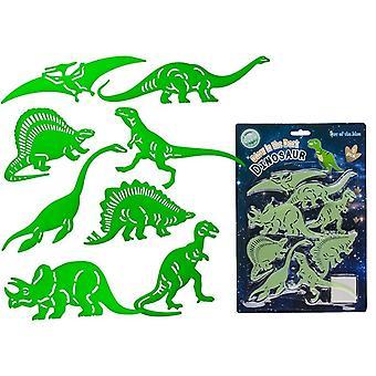 8er-Pack Dinosaurier Glühen in der dunklen Wanddekoration Takdekoration