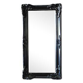 ミラー イタリア デザインの黒でサイズ 108 × 58 cm