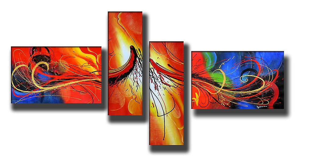 Abstrakt, handmålad oljemålning 250x120 cm