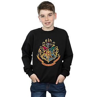 Harry Potter Boys Hogwarts Crest Gold Ink Sweatshirt