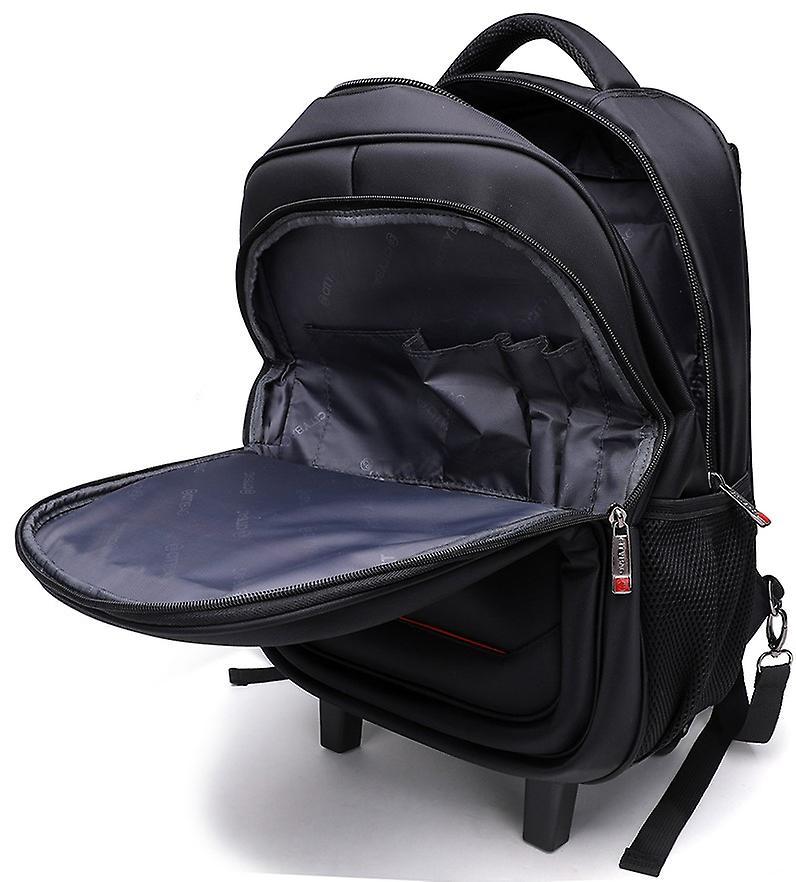 City Bag Hybrid Laptop Trolley Wheeled Backpack Rolling 15.4