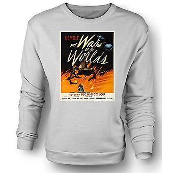 Mens Sweatshirt krig av verdener - H G Wells - plakaten