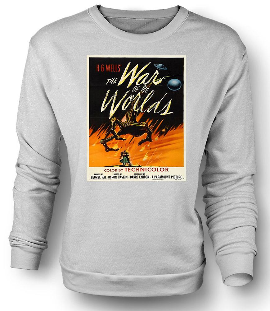 Mens Sweatshirt War Of The Worlds - H G Wells - Poster