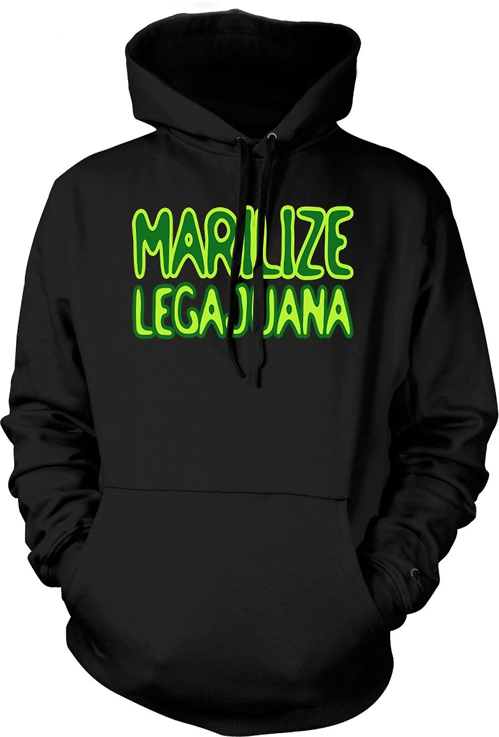 Mens Hoodie - Marilize Legajuana onkruid