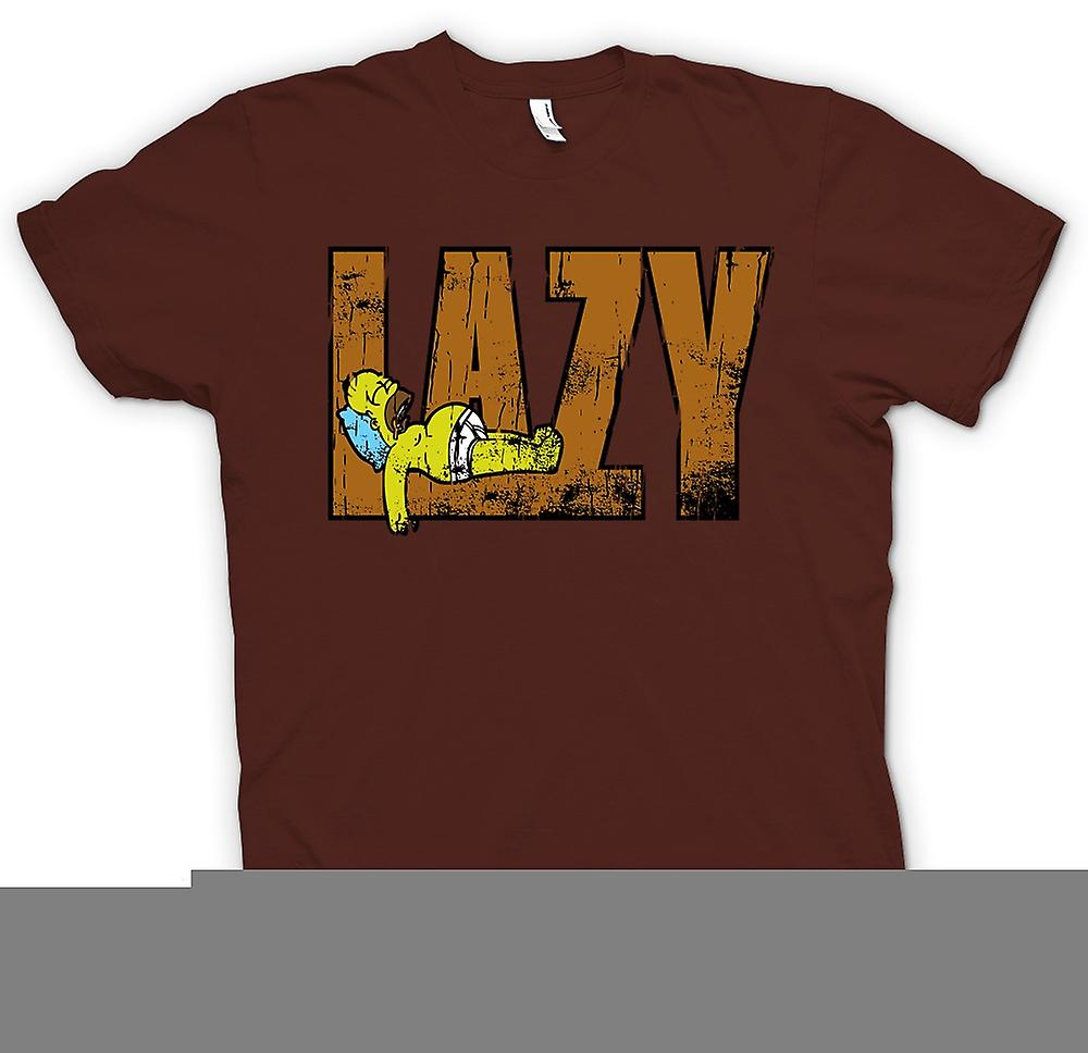 Mens T-shirt-Homer Simpson - Lazy - inspiré