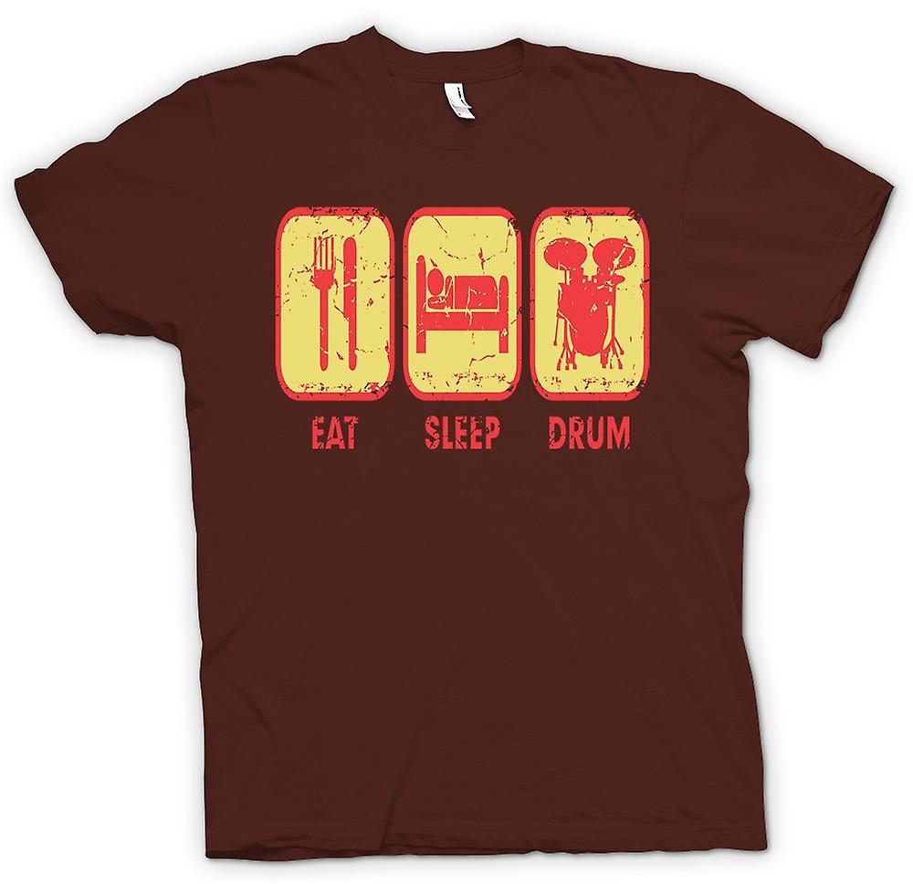 Mens T-shirt - Eat Sleep Drum - Cool Drummer