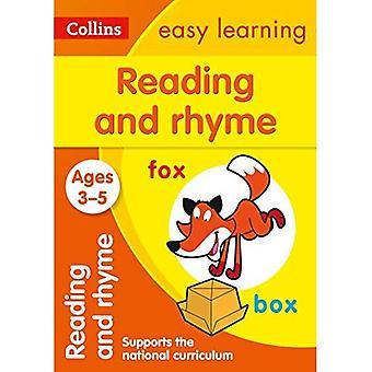 Läsning och RIM i åldrarna 3-5: ny upplaga (Collins lätt lärande förskola)