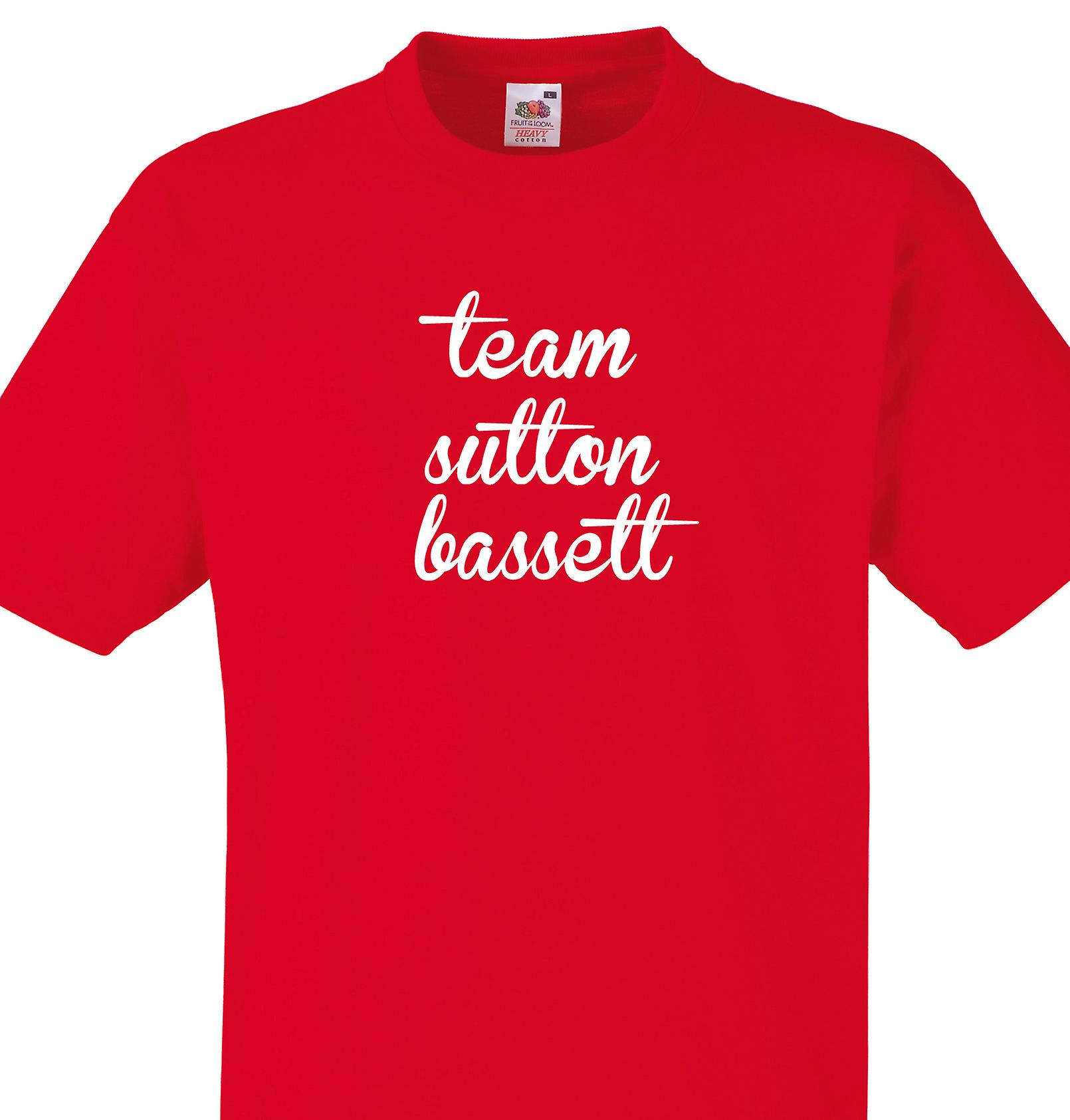 Team Sutton bassett Red T shirt