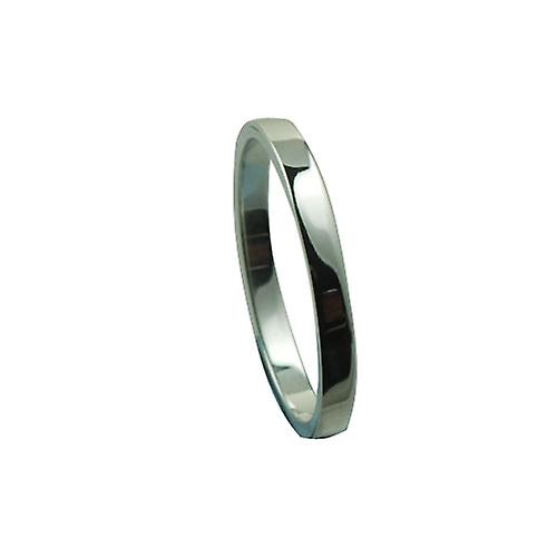 Platinum 2mm plain flat Wedding Ring Size P