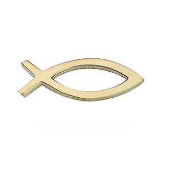 9ct Gold 19x6mm Christian Fish symbol Tie Tack