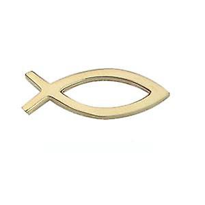9ct Gold 19x6mm Christian Fish symbol Tietack