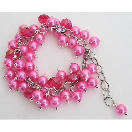 Fuchsia Jewelry Stunning Chunky Bracelet Wedding Gift