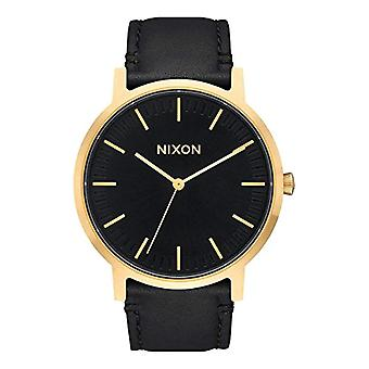 Nixon Analog quartz men's watch with leather A1058-513-00