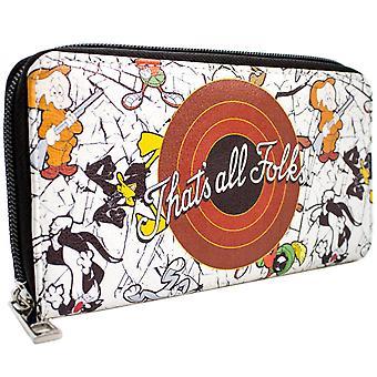 Looney Tunes, That's All Folks! Bugs & Daffy munt & kaart Clutch portemonnee