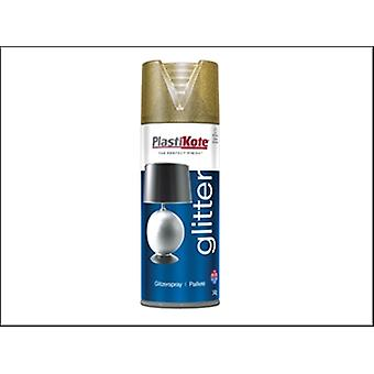 Plasti-Kote Glitter Effect Spray Gold 400ml