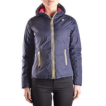 K-way Blue Nylon Down Jacket