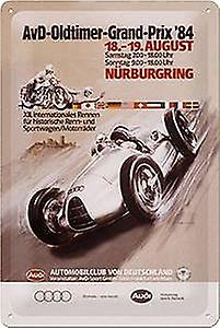 AvD Audi OldTimer Nurburgring '84 embossed metal sign    (na 3020)