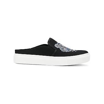 Kenzo Black Cotton Slip On Sneakers