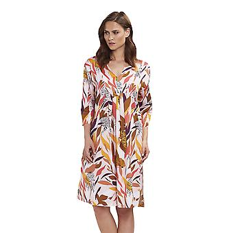 Feraud 3195125-10737 Women's Voyage Coral Multicolour Tiger Print Cotton Beach Dress