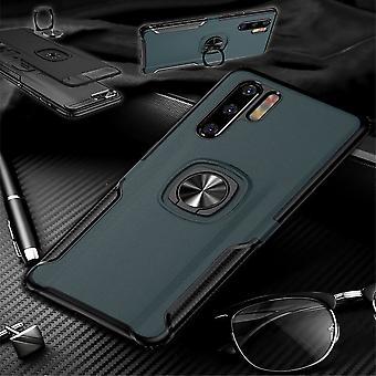 For Huawei P30 lite magnet metall ring hybrid Case Navy bag deksel etui beskyttelse