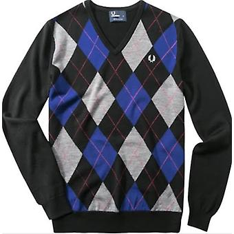 Fred Perry Argyle V-Neck Pullover Men's K7257-236