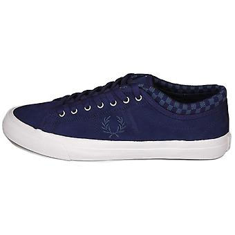 Fred Perry Kendrick Checkerboard Cuff Nubuck Leather Men's Trainers