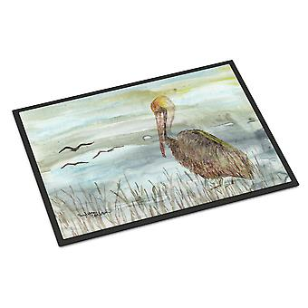 Brown Pelican Watercolor Indoor or Outdoor Mat 24x36