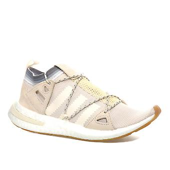 Womens adidas Originals Arkyn Trainers In Chalk- Primeknit Upper Wraps The Foot-