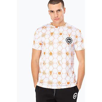 Hype X Cod White Hexagon Logos Men's T-Shirt