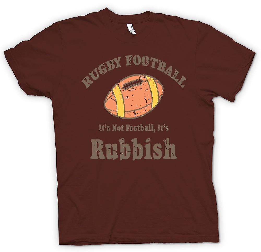 Womens T Shirt Rugby Football Rubbish Funny Fruugo