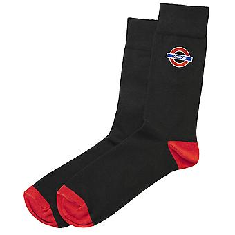 Tfl™6308 ladies licensed london roundel™ embroidery sock size 4-7