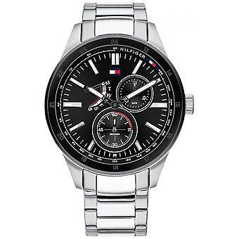 Tommy Hilfiger | Men's Austin | Stainless Steel Bracelet | Black Dial | 1791639 Watch