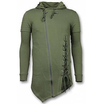 Casual Vest - Long Fit Braided Vest - Khaki