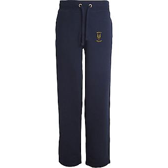 SAS Special Air Service Boat Troop - Licensed British Army Embroidered Open Hem Sweatpants / Jogging Bottoms