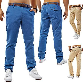 Chino style pants jeans Slim Fit Stretch Chino Trousers Blue Marine