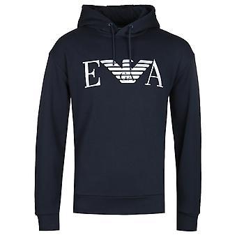 Emporio Armani EA Eagle logo Marine hoodie