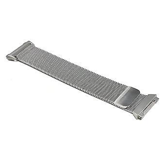 Comfort lussen compatibel met FitBit Ionische roestvrij staal, zilver