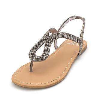 Material Girl Womens Shyla Open Toe Special Occasion Slingback Sandals