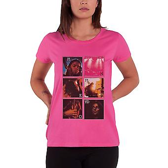 Pink Floyd  T Shirt Live Poster Official Womens New Pink Skinny Fit