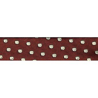 Novelty Fashion Bias 20Mm X 22 Yards Burgundy with Cream Dots 1782 72