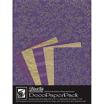 Deco Paper Pack By Black Ink Papers-Napa Purple DP-708