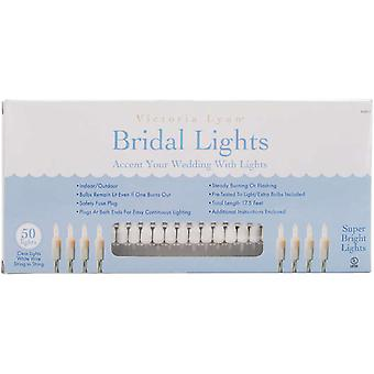 Bridal Lights 50 Count 17.5 Feet Clear Bulbs with White Wire Vl50 1